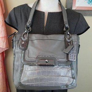*Coach Kristin Spectator Grey Leather Shoulder Bag